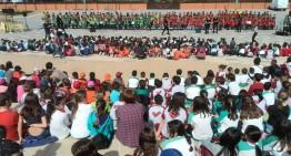 200 alumnes participen a la 2a Cantada Escolar de Malgrat en una doble actuació