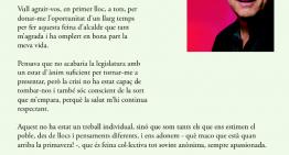 """Agustí proposa """"seguir la senda prou coneguda"""" aquests propers 4 anys"""