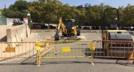 En marxa les obres de la nova rotonda d'accés al veïnat de Sant Lluís