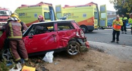 Un ferit crític en un accident de trànsit a Tordera