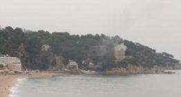 El Castell d'en Plaja pateix un petit incendi