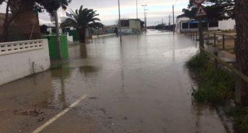 Zona dels càmpings inundats a Malgrat