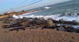 Rull reclama a l'Estat que afronti els danys del temporal al Maresme