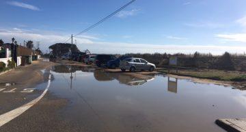 Camí de la Pomereda inundat. Arxiu RP