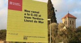 Lloret es personarà a favor de les obres de la C-32