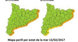 Protecció Civil activa l'alerta per temporal marítim a tot el litoral