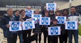 Manifestació contra la gestió hospitalària a Blanes