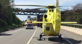 Sis ferits en un accident frontal a Hostalric