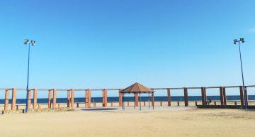 Les barraques de Malgrat es traslladen a la platja per seguretat