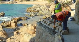 Ultimen els treballs de millora de la Cala de Sant Francesc a Blanes