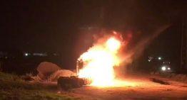 La tractora d'un camió s'incendia al polígon d'en Puigvert