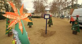 Els nens i nenes de les escoles de Blanes emplenen el municipi amb avets decorats