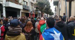 Concentració a Malgrat en suport dels independentistes detinguts ahir
