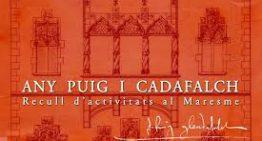 L'Arxiu Comarcal del Maresme presenta dilluns un llibre sobre la figura de Puig i Cadafalch