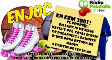 El programa En Joc, de Ràdio Palafolls, celebra avui la seva edició 300