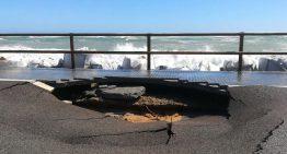 El temporal marítim provoca un esvoranc de 3 metres a la zona dels càmpings de Malgrat