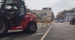 El nou carrer Folch i Torres agrada però es lamenta la manca d'aparcament durant les obres