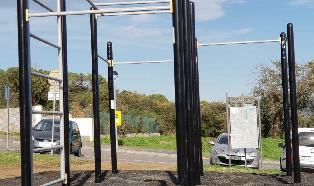 Can Batlle valora amb satisfacció l'ús del parc de calistènia instal·lat al local