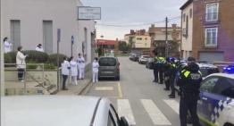 La Policia Local de Palafolls homenatja al personal del CAP