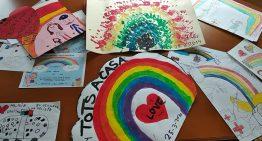 Els dibuixos dels infants palafollencs durant el confinament s'exposaran des d'avui al MiD