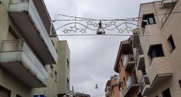 La llevantada del cap de setmana deixa afectacions lleus a l'enllumenat nadalenc de Palafolls