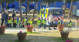 La Policia Local de Palafolls treballa la mobilitat segura amb els alumnes de P-4 de Les Ferreries