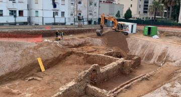 Les obres d'un supermercat prop de l'Hospital de Calella permeten descobrir les restes d'una casa romana