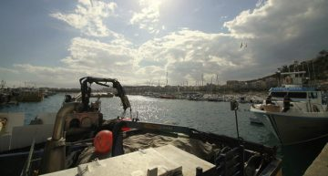 Acaben les obres d'emergència al port de Blanes arran del temporal Gloria