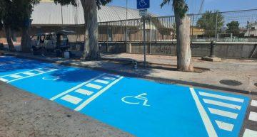 Es rehabiliten les places d'estacionament per a persones amb mobilitat reduïda de davant del Respir