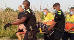 Rescatada una dona gran que havia caigut per un voral de 2 metres a Palafolls