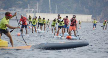 Una seixantena de surfistes participen a Blanes de la Costa Brava Sup Race